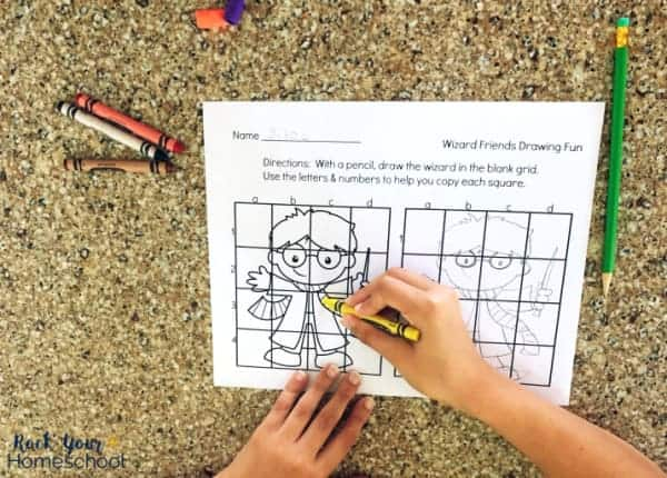 Your kids will have a blast working on these grid art activities featuring their favorite Harry Potter characters.