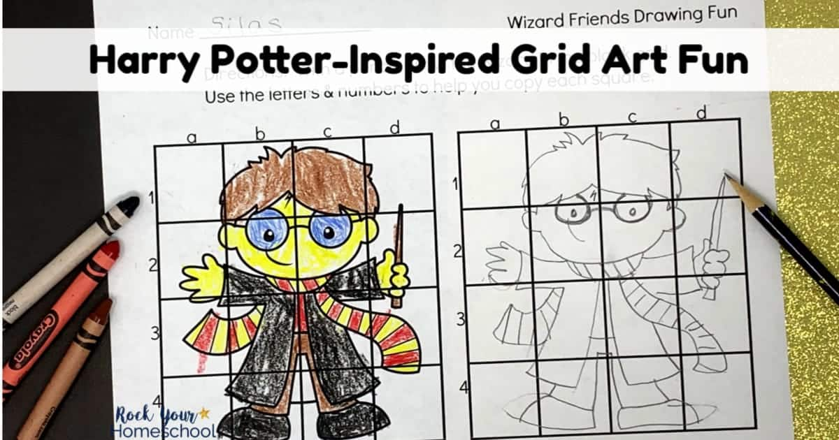 Got Harry Potter fans? They'll love these free printable grid art activities featuring their favorite characters.
