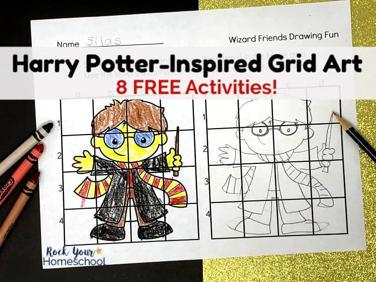 Enjoy magical fun with these free Harry Potter-Inspired Grid Art activities.