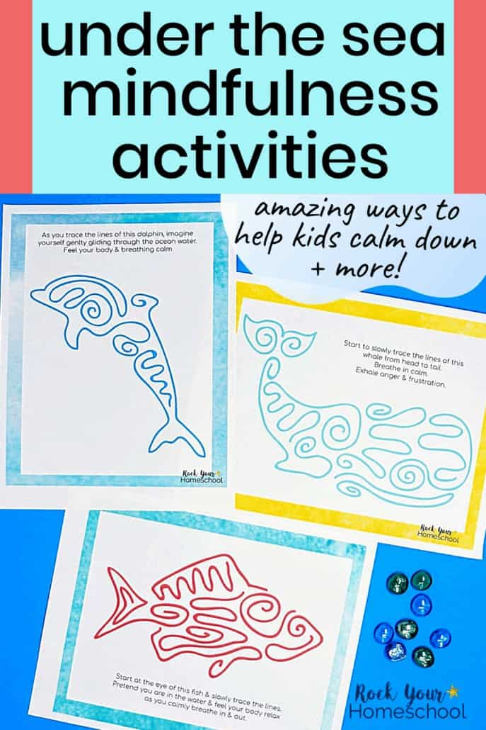 These Under the Sea mindfulness activities are amazing ways to help kids calm down & practice growth mindset skills.