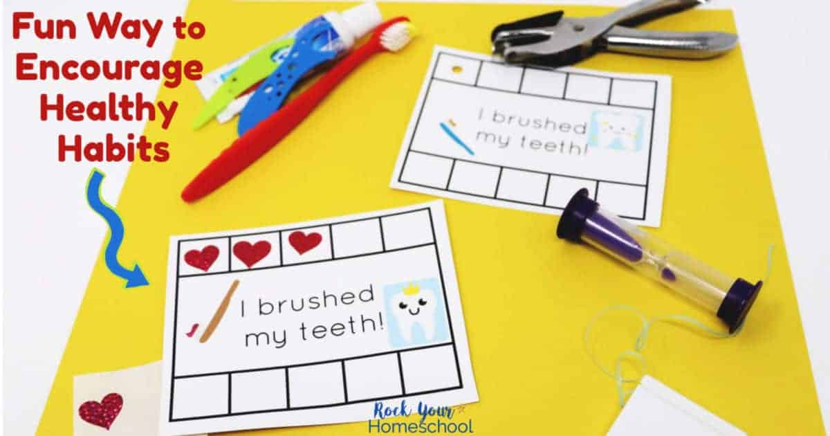 Take the struggle out of brushing teeth time with this fun approach using Brush Teeth Cards to motivate, track, & reward.