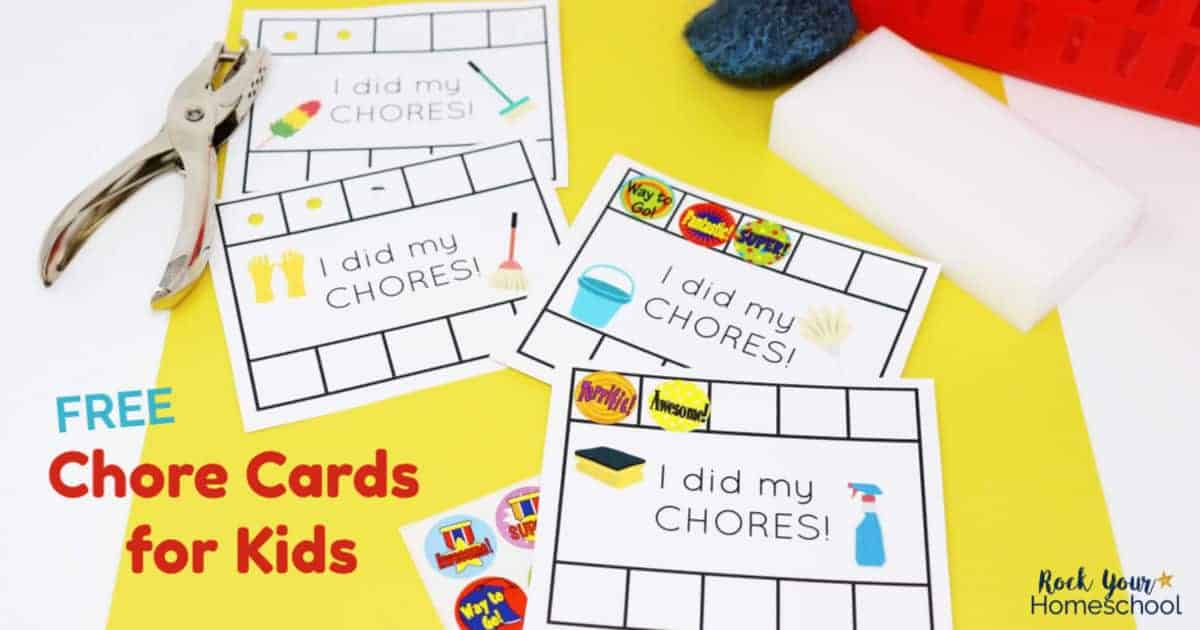 picture relating to Free Printable Chore Cards known as Straightforward Path towards Create Chore Playing cards for Little ones Enjoyment - Rock Your Homeschool