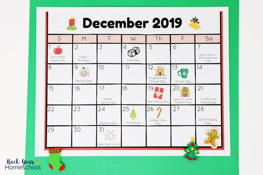 Free Calendar of Fun Holidays for Kids to Celebrate ...