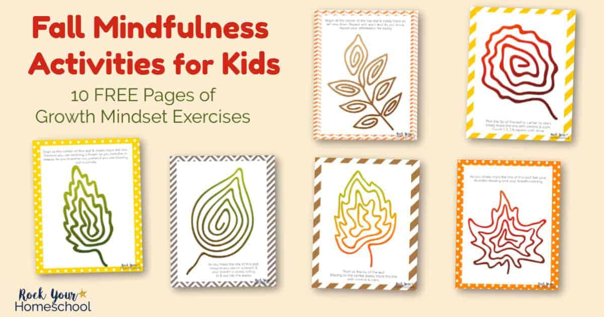 Use these hands-on growth mindset exercises featuring Fall Mindfulness Activities to help your kids learn these positive skills.