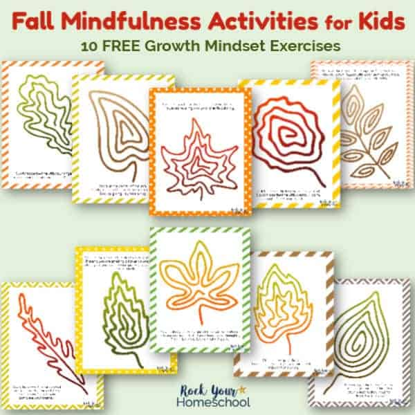 These 10 free Fall Mindfulness Activities for Kids are fantastic hands-on ways to learn & practice growth mindset skills.