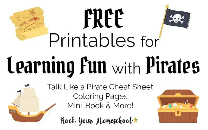 Enjoy learning fun with pirates with this free printable pack of activities & coloring pages.