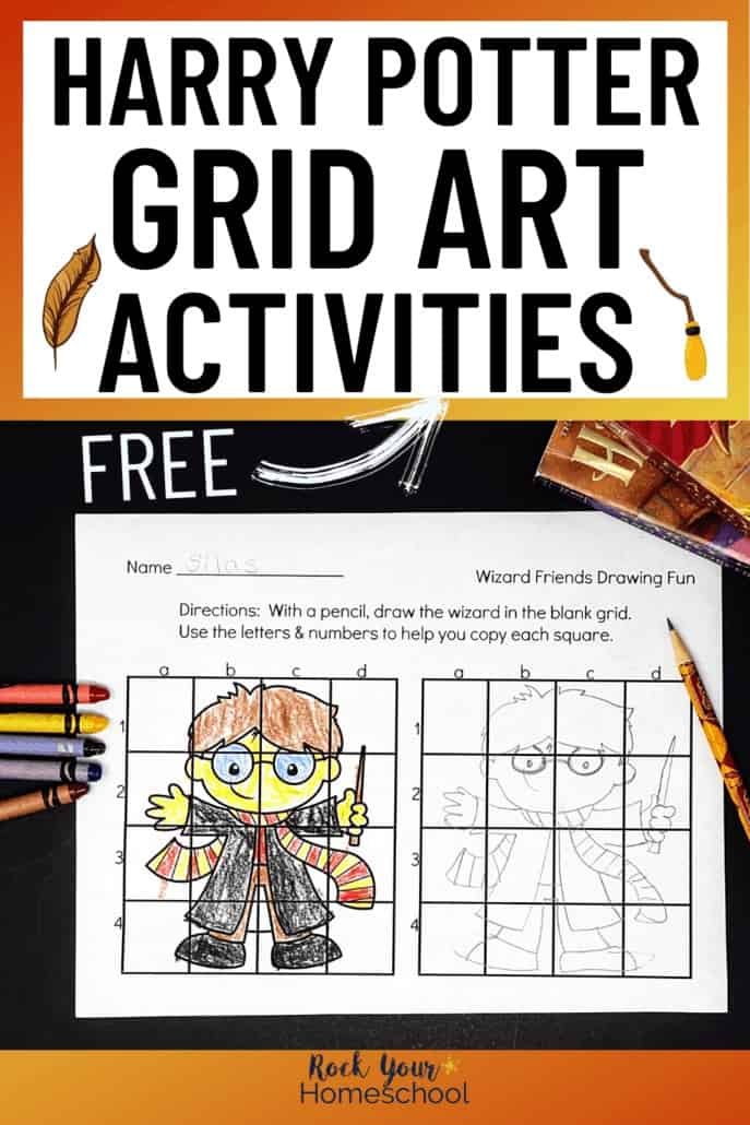 Free Harry Potter-Inspired Grid Art Activities for Amazing Fun