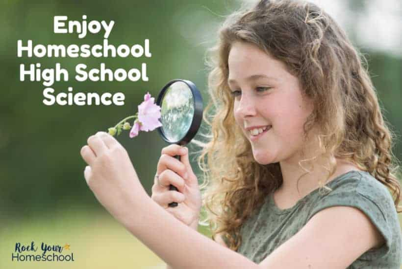 You can enjoy high school science, even if you have a large homeschool family.