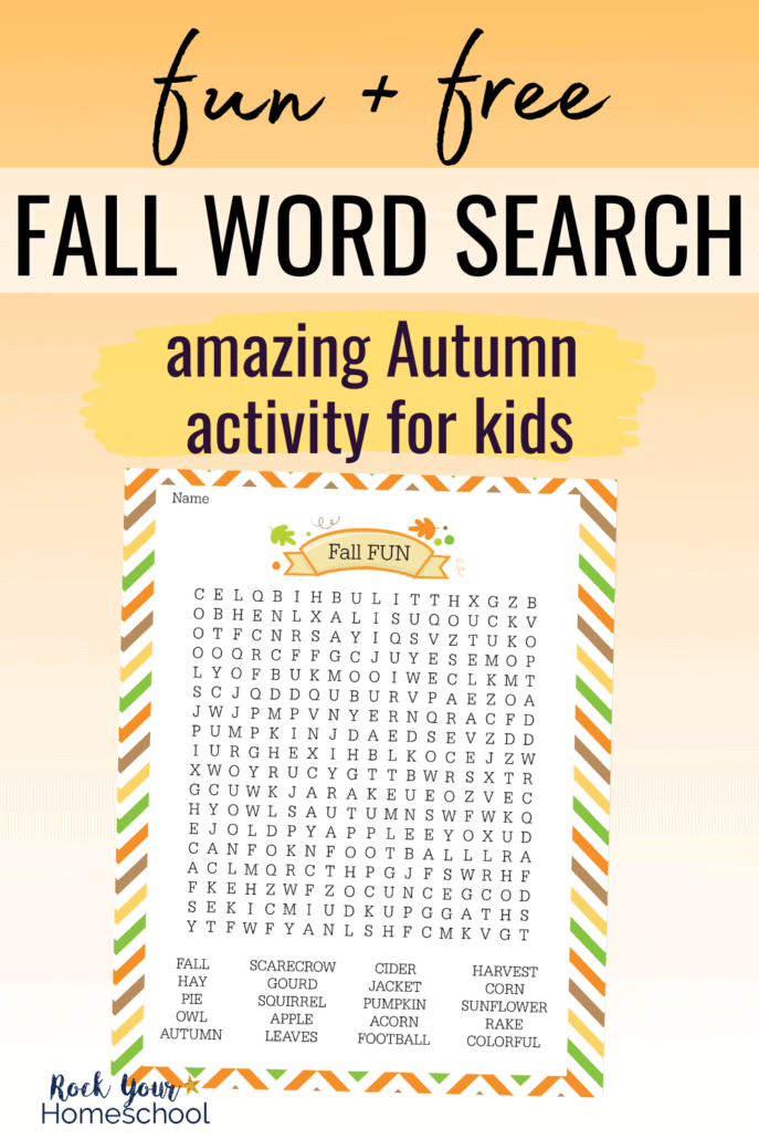 Fall Fun Word Search to feature how this free printable activity is a fantastic way to enjoy an easy Autumn activity