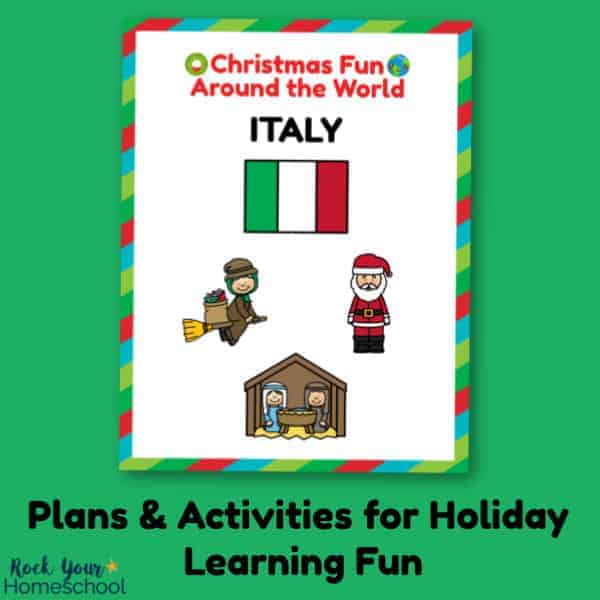 Enjoy holiday learning fun with your kids using these plans & activities for Christmas Fun in Italy.