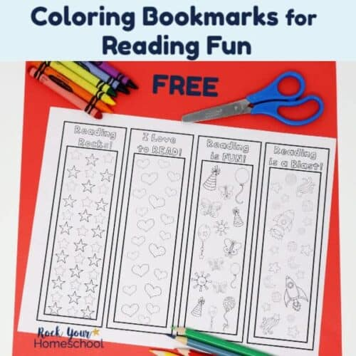 Help your kids have reading fun with these free coloring bookmarks to track progress.