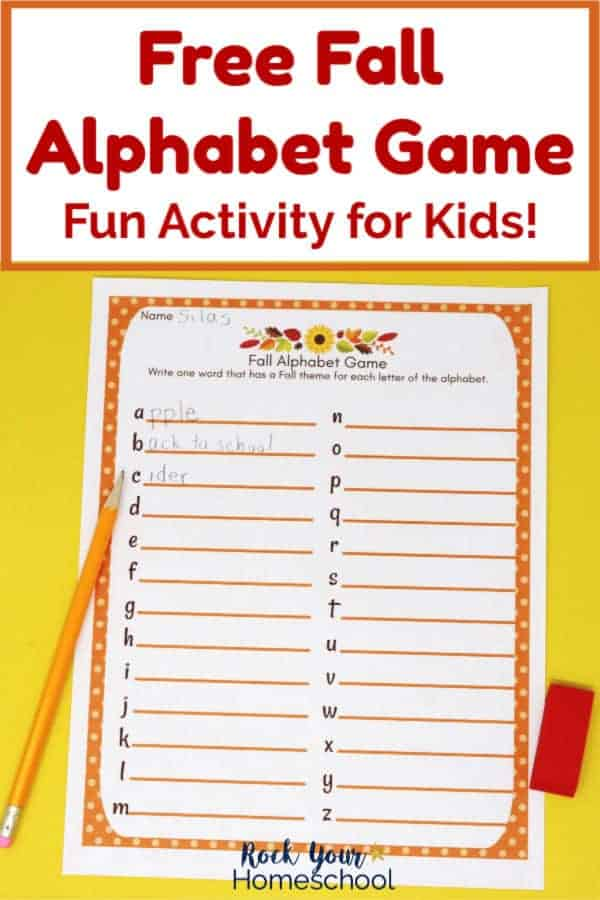 Free Fall Alphabet Game for Awesome Activity for Kids