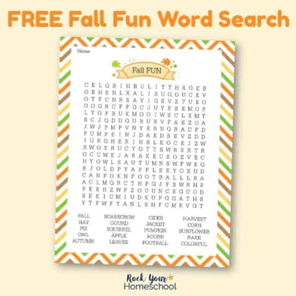 This Fall Fun Word Search is an awesome activity to boost your holiday celebration.