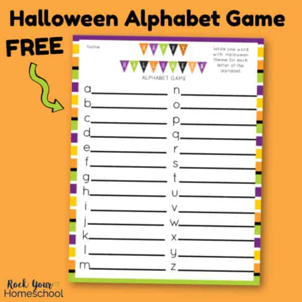 Have amazing holiday fun with this free printable Halloween Alphabet Game.