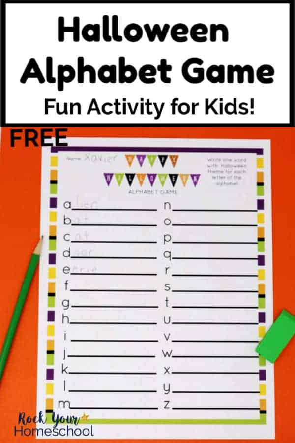 Free Halloween Alphabet Game for Fun Activity