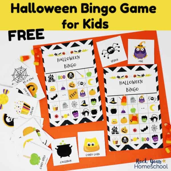 Have super fun this holiday with this free Halloween Bingo Game for Kids.