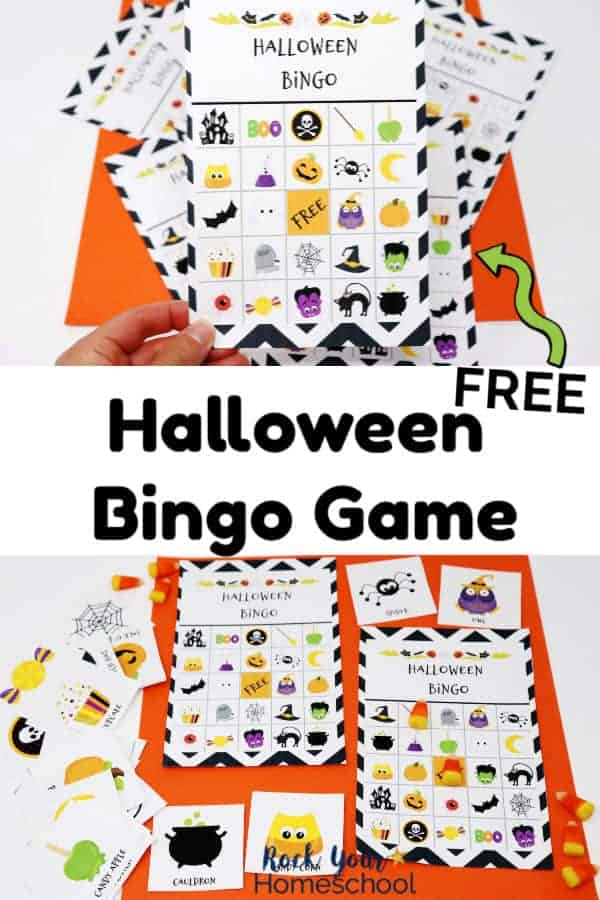 photo relating to Printable Halloween Bingo Cards named Totally free Halloween Bingo Recreation for Enjoyment with Small children - Rock Your