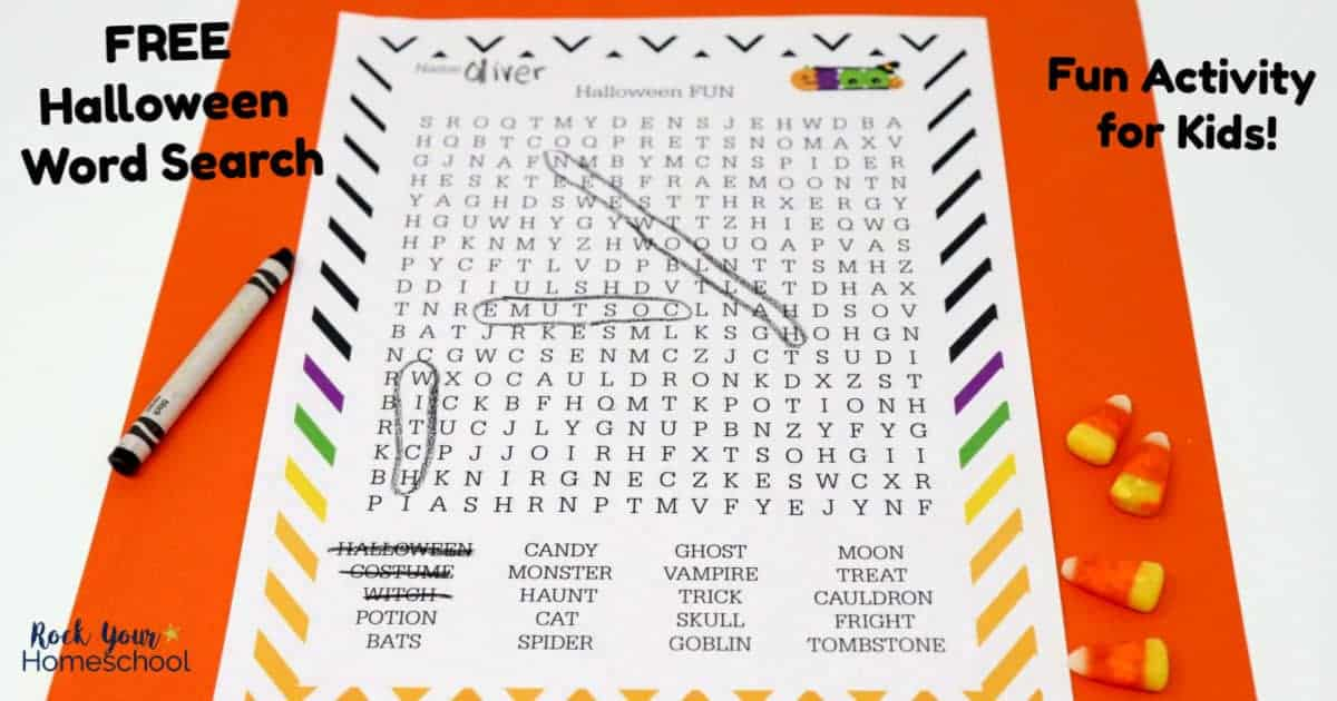 This free printable Halloween Fun Word Search is an excellent activity to enjoy with kids.