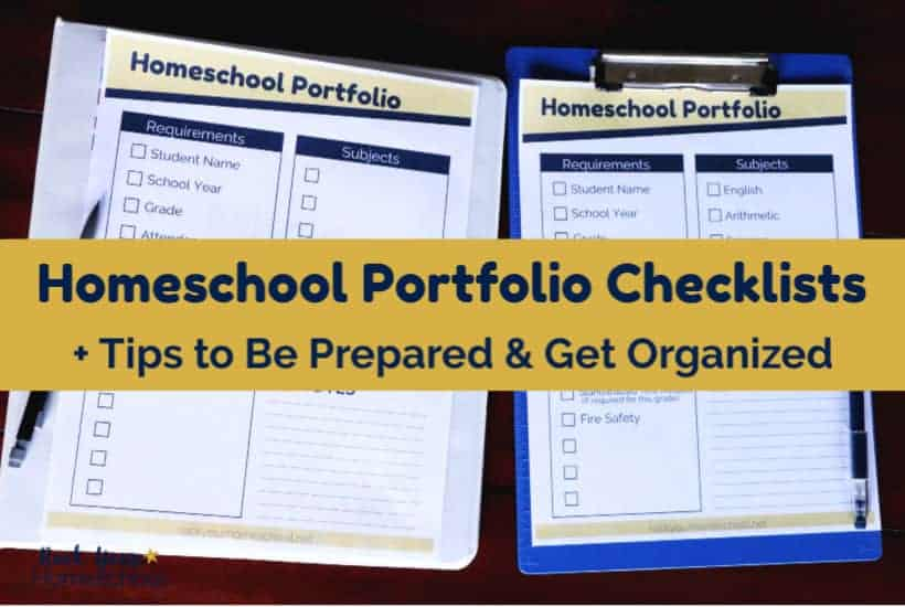 Use these 2 free homeschool portfolio checklists to be prepared & get organized.