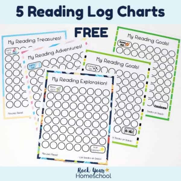 picture regarding Printable Charts identify 5 Reading through Log Printable Charts for Youngsters - Rock Your Homeschool