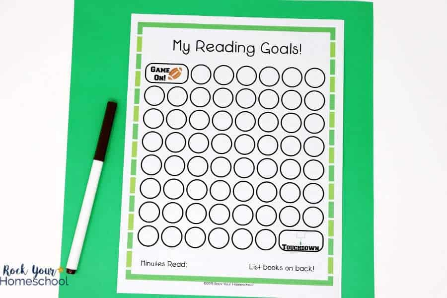 Your football fans will love using this reading tracker chart to watch their progress.