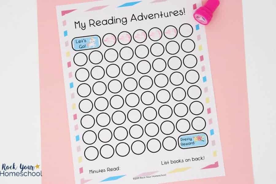 This adorable unicorn-themed reading tracker chart is an excellent way to track reading practice & progress.