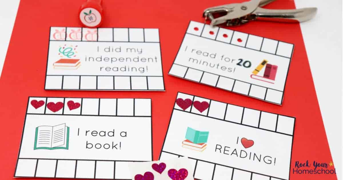 photo about Printable Punch Cards called Reading through Tracker Enjoyable for Youngsters with Totally free Printable Punchcards