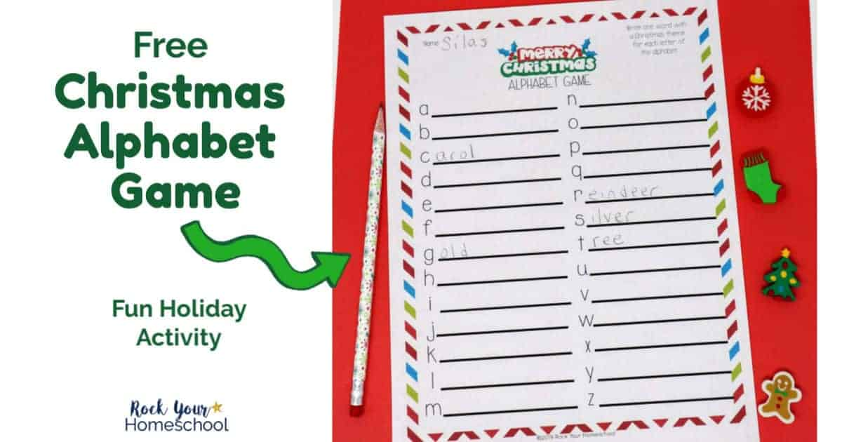 Enjoy a special holiday activity with this free printable Christmas Alphabet Game.