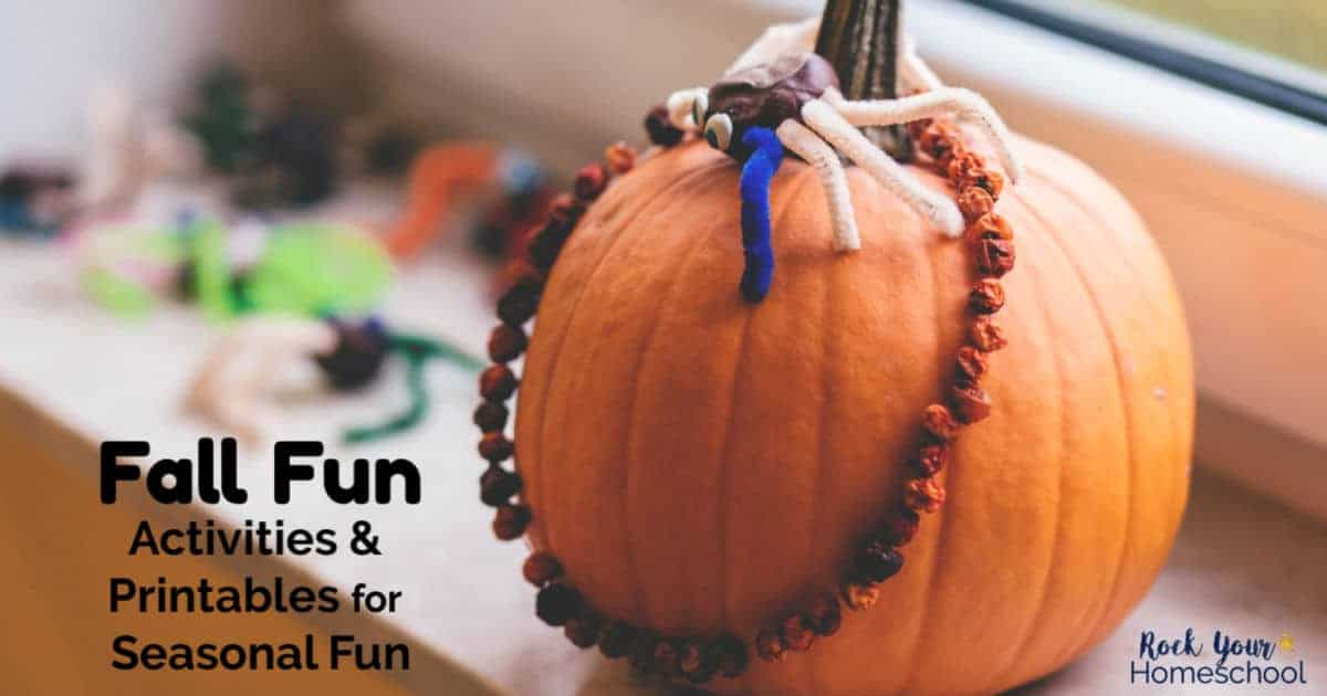 Enjoy Fall Fun with your kids! These activities & printables will help you have an awesome Autumn.
