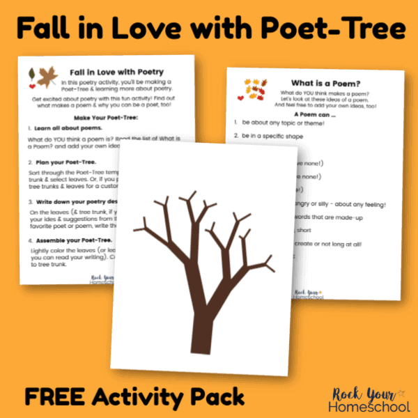 Enjoy a wonderful introduction to poetry with this Fall in Love with Poet-Tree activity pack.