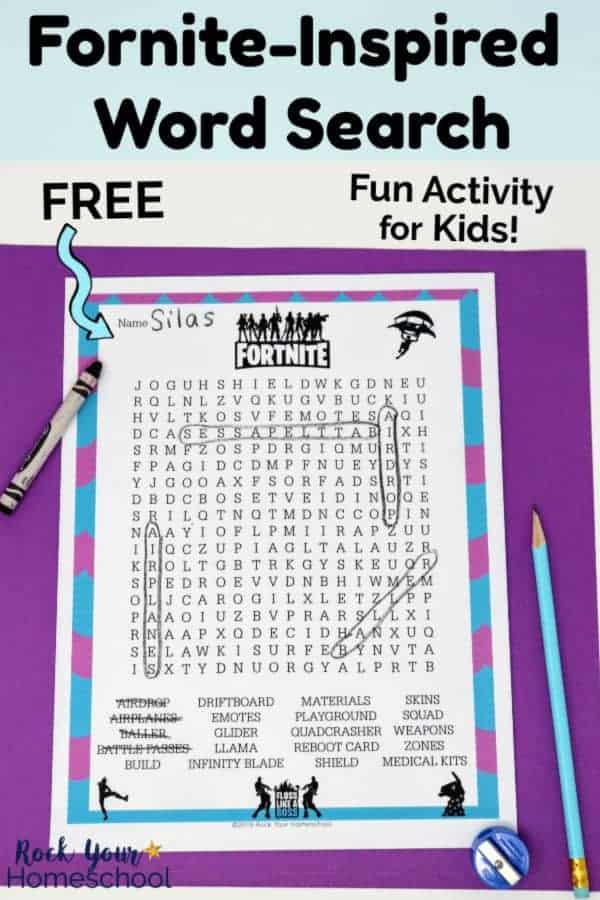 Fun & Free Fortnite-Inspired Word Search Kids Will Love