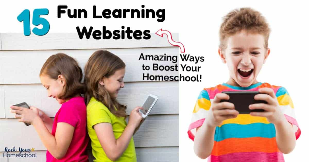 Easily boost your homeschool with these 15 fun learning websites for kids.