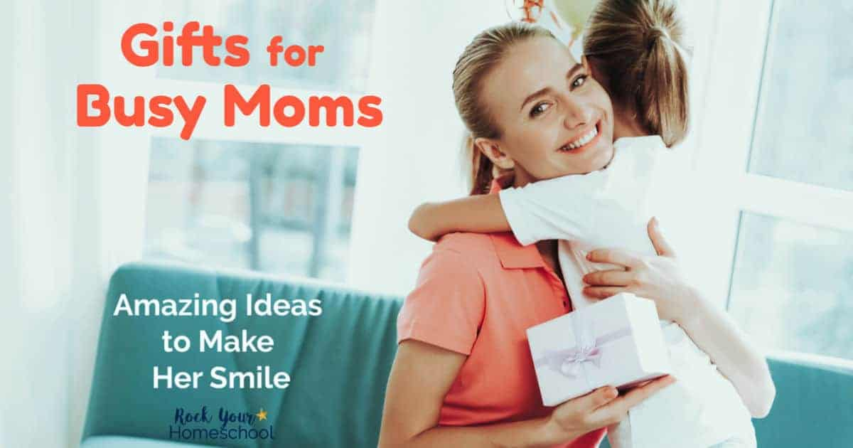 Get helpful gift ideas for busy moms that will help you pick the perfect present to make her smile.