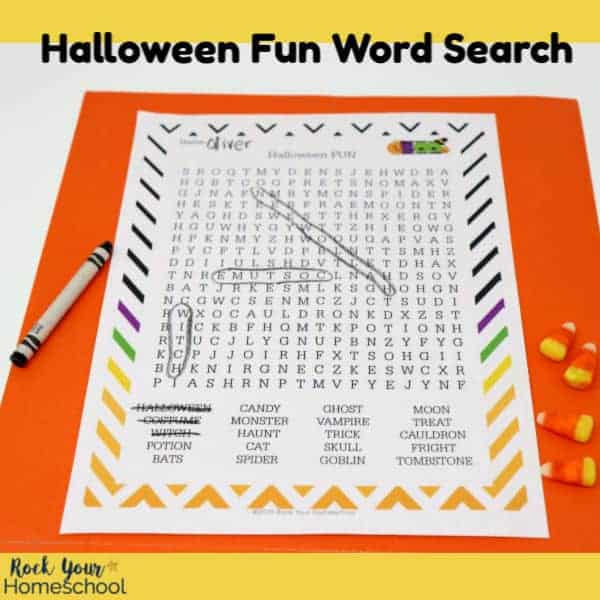 This free printable Halloween Fun Word Search is an awesome activity for kids.