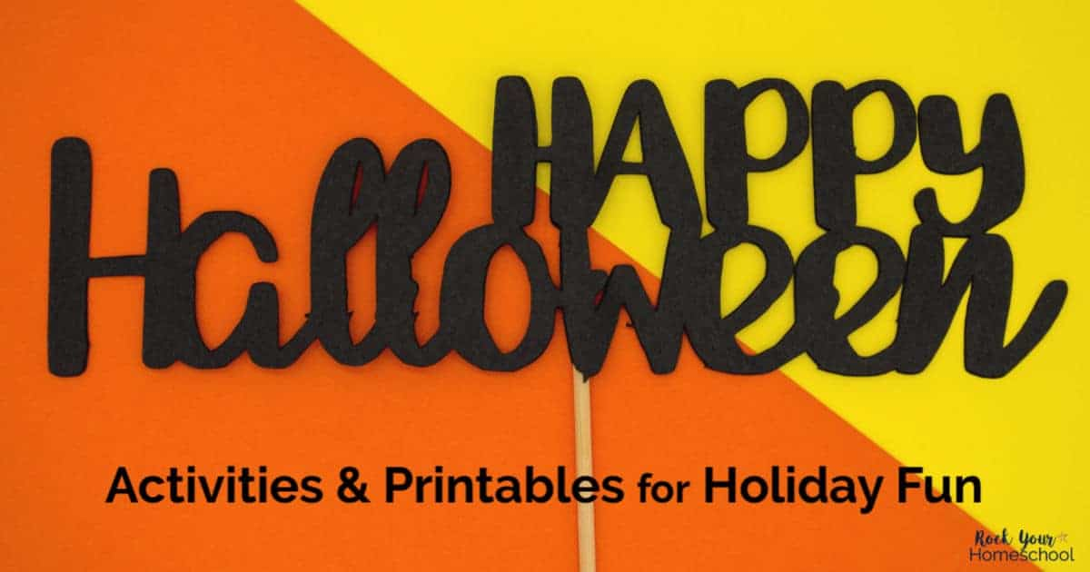 These free activities & printables are wonderful ways to enjoy Halloween Fun with kids.