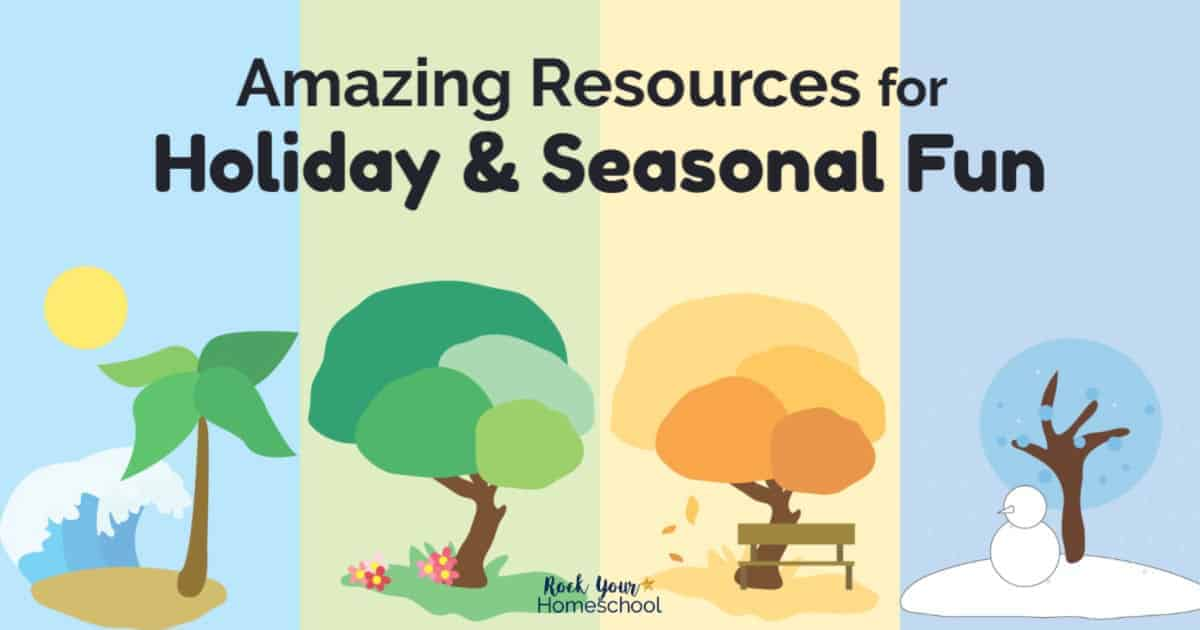 You'll find amazing resources for holiday & seasonal fun with your kids. Check out these printables, activities, & more!