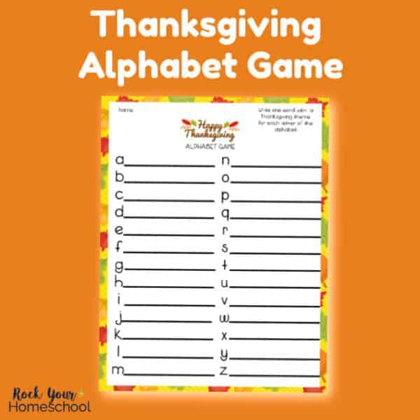 This free printable Thanksgiving Alphabet Game is an awesome activity to enjoy with kids.