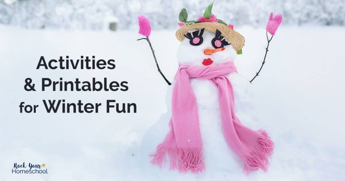 These free printables & activities are wonderful ways to enjoy Winter Fun with kids.