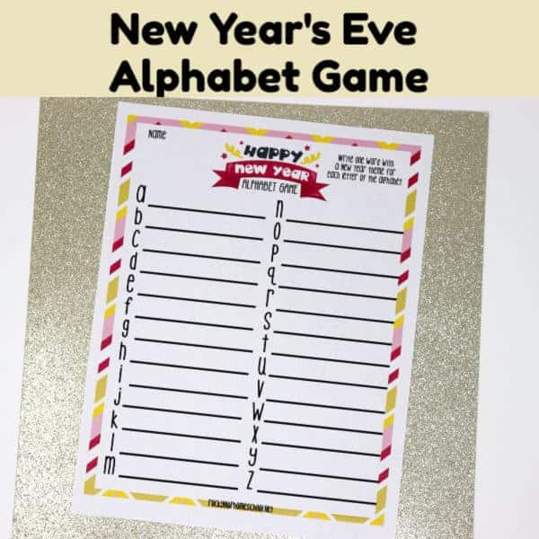 This free printable New Year's Eve Alphabet Game is a fabulous activity to make your celebration shine.