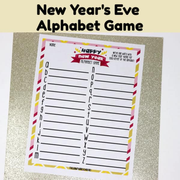 This printable free New Year's Eve Alphabet Game is a fabulous activity to make your celebration shine.