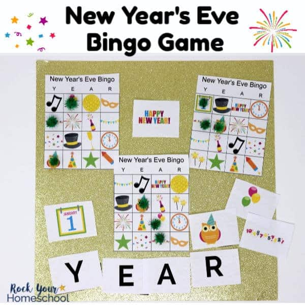 This free New Year's Eve Bingo Game is such a fun way to celebrate this special night with kids.