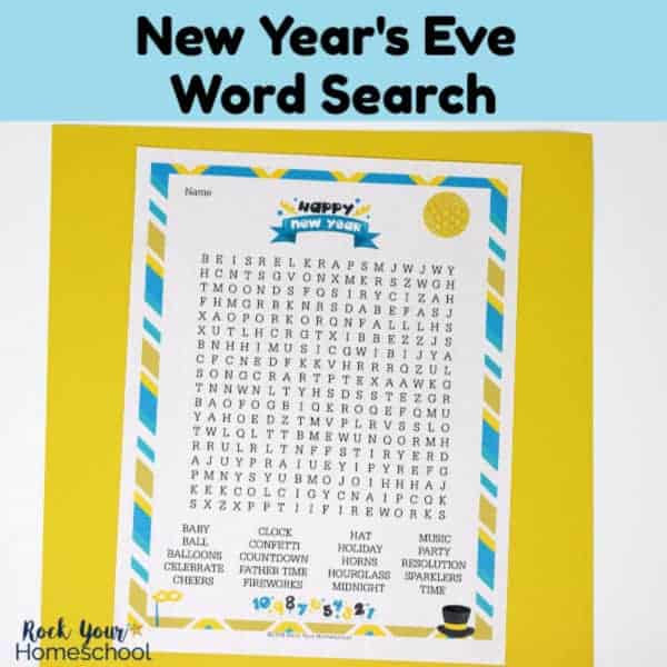 This free printable New Year's Eve Word Search will help you have a blast with kids while you celebrate this special night.