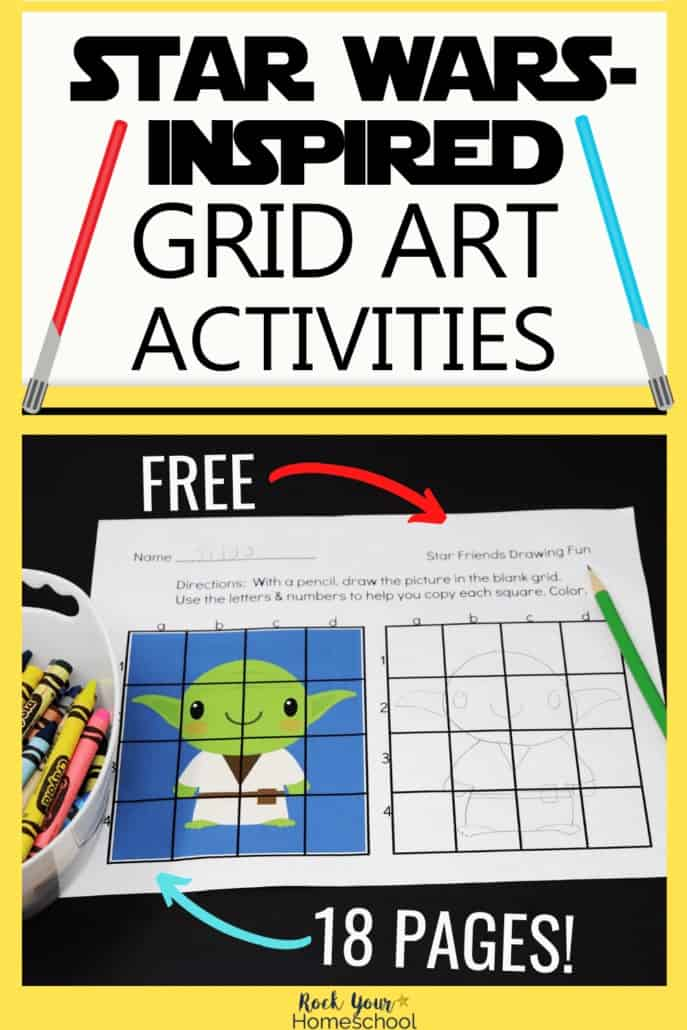 Fantastic Fun with Free Star Wars-Inspired Grid Art Activities