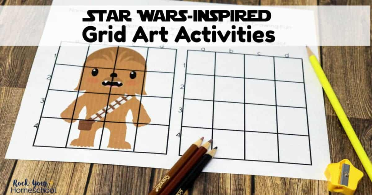 Spectacular Star Wars-Inspired Grid Art Activities are amazing ways to enjoy drawing fun with kids.