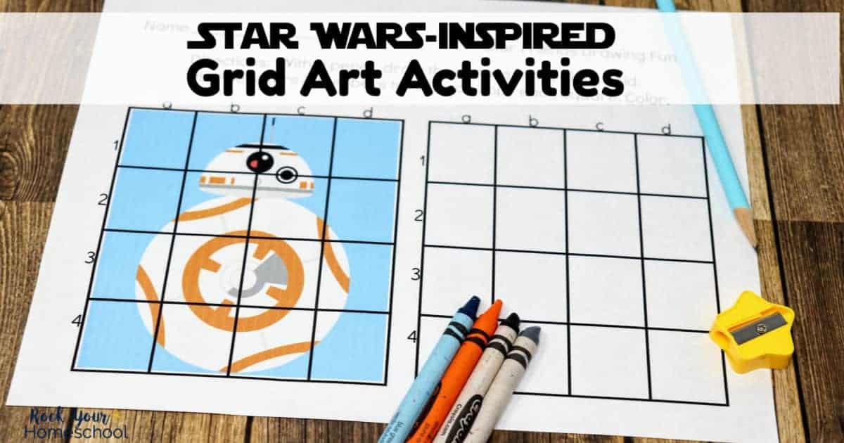 Enjoy drawing fun with your Star Wars fans using these grid art activities.