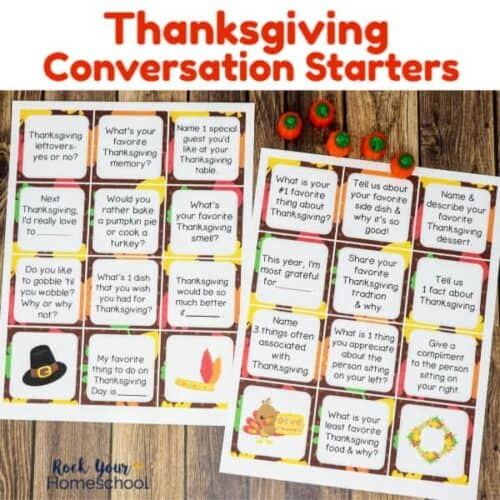Enjoy an amazing holiday activity with these Thanksgiving Conversation Starters.