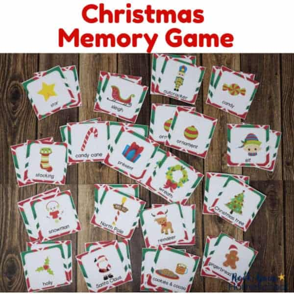 This Christmas Memory Game for Kids is an excellent way to enjoy open-and-go holiday fun.
