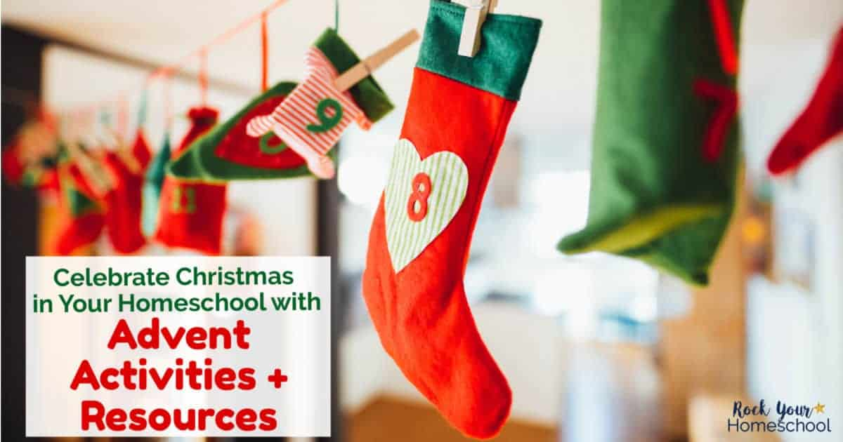 Find awesome Advent activities & resources to use to celebrate Christmas in your homeschool.
