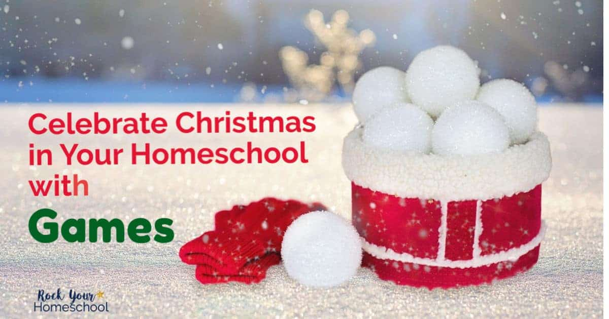 Have holiday fun with your kids using these great games to celebrate Christmas in your homeschool.