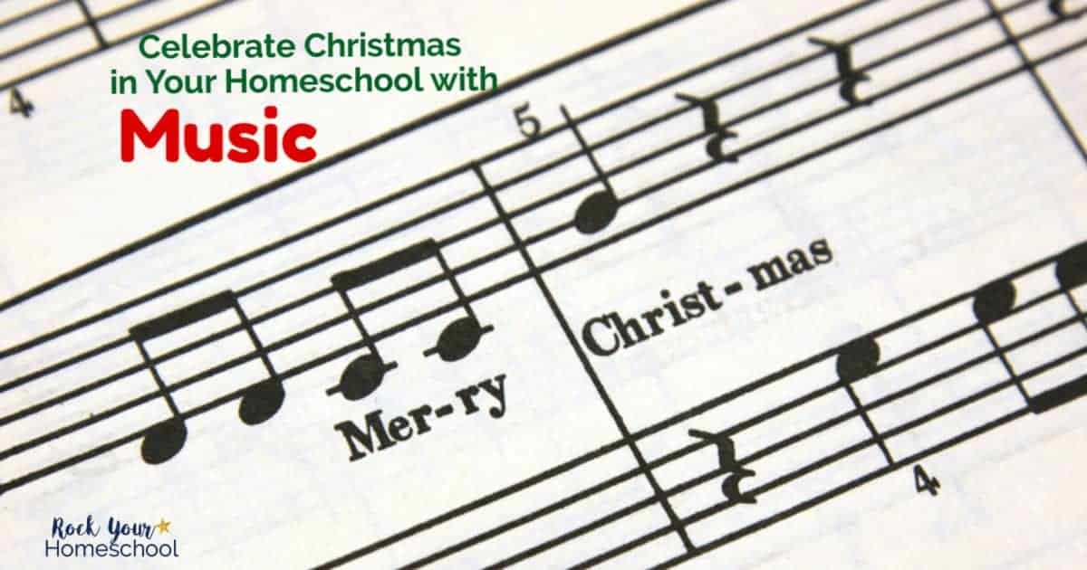 Your kids will love these creative ways to celebrate Christmas in your homeschool with music.